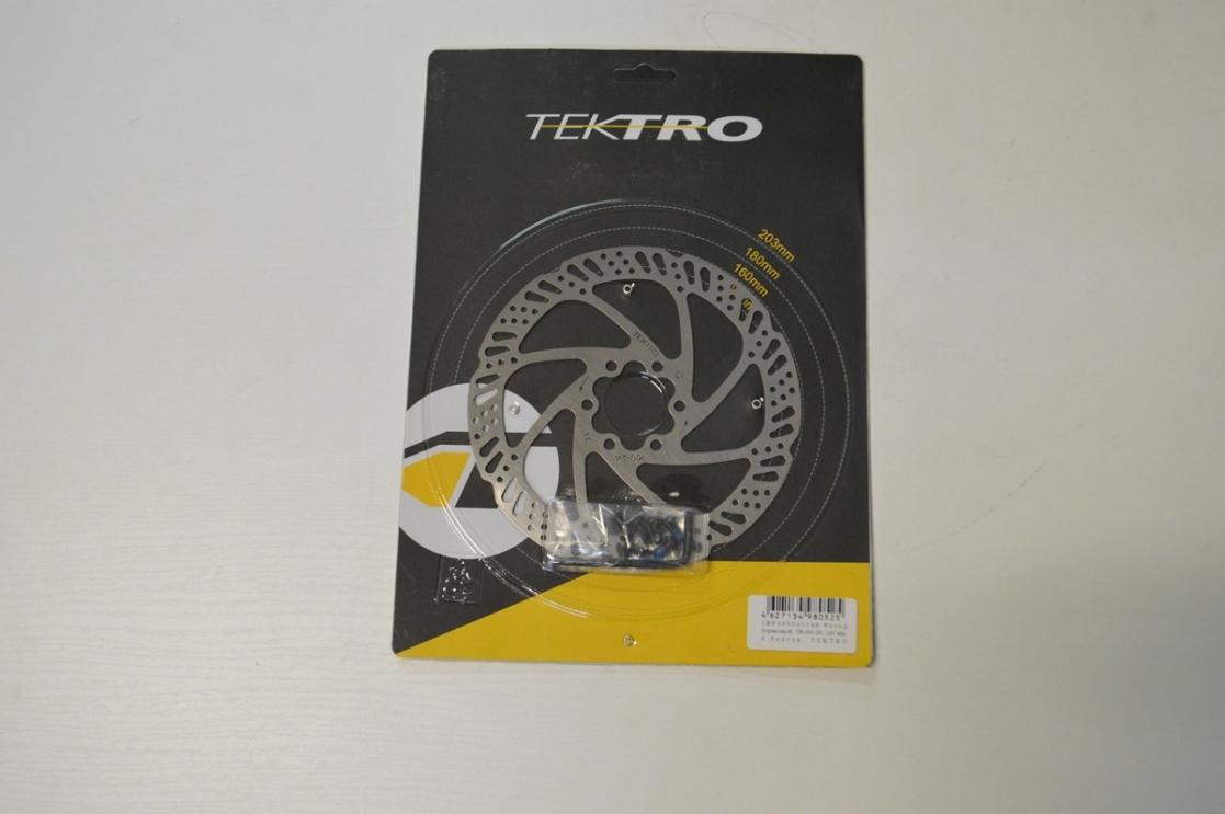 Ротор дискового тормоза 160мм Tektro TR160-24 под 6 болтов, код 510106